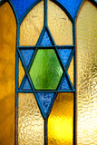 Stained Glass Star of David Photographic Print by  EvanTravels