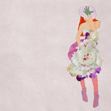 Beautiful Girl in a Flower Dress, Fashion Posters by  vipa21