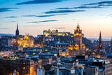 Edinburgh Evening Skyline HDR Fotografisk tryk af  antbphotos