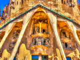 Details from the Sagrada Familia Church in Barcelona, Spain Photographic Print by imagIN photography