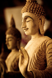 Wood Carved Buddha Photographic Print by  EvanTravels