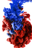 Ink Color Drop, Dark Blue and Red Photographic Print by  sanjanjam