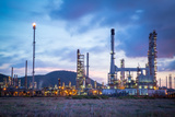 Petrochemical Oil Refinery Plant Photographic Print by  hin255