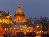 Evening St. Petersburg. View on St. Isaac's Cathedral Photographic Print by  katvic