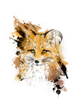 Fox. Graphic Drawing. Art by  MargaritaSh