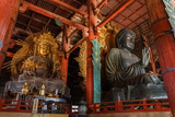 Daibutsu with Kokuzo Bosatsu at Todaiji Temple in Nara Photographic Print by  coward_lion