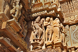 Human Sculptures at Khajuraho, India - UNESCO Heritage Site. Photographic Print by  mitrarudra