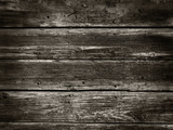 Old Wood Background from a Wood Houses Wall - Sepia Photographic Print by  milotus