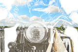 Motorcycle and Country Road in Double Exposure Photographic Print by Gabriele Maltinti