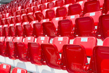 Amphitheater of Red Seats Photographic Print by  ComZeal