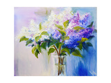 Lilacs in a Vase, Oil Painting on Canvas Prints by  Valenty