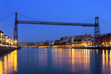 Hanging Bridge between Portugalete and Getxo. Vizcaya, Basque Co Photographic Print by  mimadeo