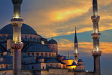 Blue Mosque at Sunset Photographic Print by  EvanTravels