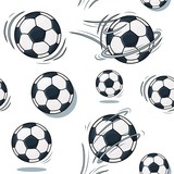 Soccer Ball Texture. Football Set Pattern. Posters by  MargaritaSh
