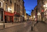 Winding Street, Brussels, Belgium Photographic Print by Mihai-Bogdan Lazar