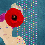 Beautiful Girl in a Flower Hat Prints by  vipa21