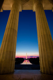 Washington Monument at Sunrise across Reflecting Pool Photographic Print by  EvanTravels