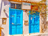 Old Taverna at Hydra Island in Saronic Gulf in Greece. HDR Photographic Print by imagIN photography