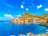 The Pictorial Port of Hydra Island in Greece. HDR Processed Photographic Print by imagIN photography