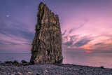 Amazing Sunset near Sail Rock in Russia Photographic Print by  mkolesnikov85