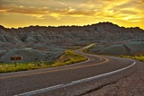 Badlands Highway HDR Photographic Print by Tomasz Zajda