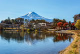 Mt. Fuji from Lake Kawaguchiko Photographic Print by  coward_lion