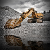 Earth Mover near Water Photographic Print by  Jessmine