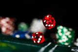 Rolling Dice Photographic Print by  EvanTravels