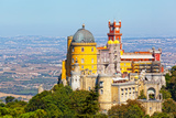 Aerial View of Palace Da Pena. Sintra, Lisbon. Portugal. Photographic Print by Shchipkova Elena