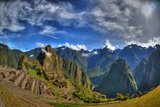Sun Rise over the Incan Lost City of Machu Picchu - HDR Photo Photographic Print by  aharond