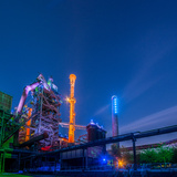 Night Portrait of an Industrial Plant Photographic Print by  mikevanschoonde