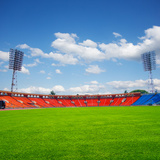 Football Field Photographic Print by  neirfy