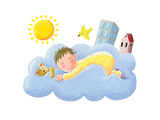 Baby Sleeping on Cloud Giclee Print by  andreapetrlik