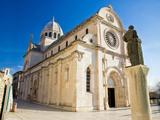 The Cathedral of St James in Sibenik Fotografisk tryk af xbrchx