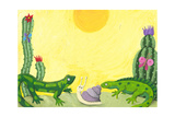 Two Cute Lizards in the Desert Posters by  andreapetrlik