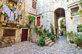 Old Stone Street of Trogir Photographic Print by  xbrchx
