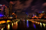 Melbourne City Lights over Yarra River Photographic Print by  EvanTravels