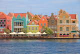 Colorful Colonial Houses in Willemstad, Curacao in the Caribbean Photographic Print by  juancat