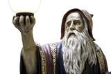 Merlin Statue Speel Medieval Druid Photographic Print by  stefano pellicciari