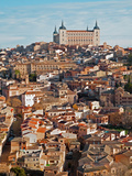 Toledo - Alcazar and Town in Morning Light Photographic Print by Renáta Sedmáková