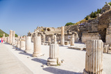 Ancient Ephesus, Turkey. Columns of the Basilica and the Odeon Photographic Print by  vvr