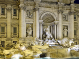Trevi Fountain in Rome by Night Photographic Print by  stefano pellicciari