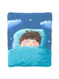 Cute Boy Sleeping Prints by  andreapetrlik