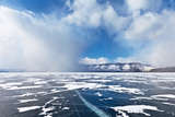 Lake Baikal. Weather Events. Snowy Charge Photographic Print by  katvic