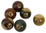 Antique Pool Balls - Set of 6 Home Accessories