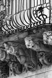 Italy, Sicily, Ragusa, Zacco Palace Baroque Facade and Balcony Photographic Print by Angelo Giampiccolo