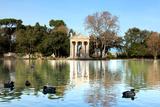 Villa Borghese Lake in Rome Photographic Print by  stefano pellicciari
