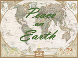 Peace on Earth - World Map Poster