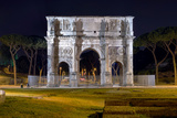 Arch of Constantine in Rome by Night Photographic Print by  stefano pellicciari