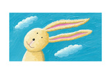 Cute Rabbit in the Wind Prints by  andreapetrlik
